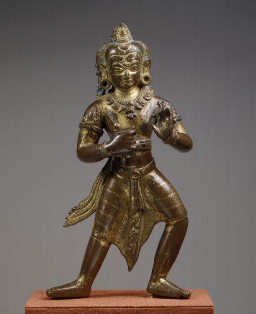 Manjushri, the Bodhisattva of Transcendent Wisdom, in an Awesome Aspect