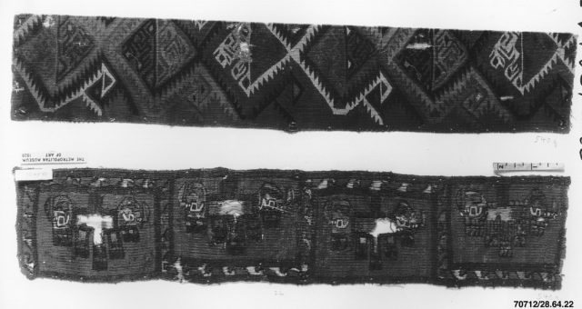 Tapestry Band Fragment with Grotesque Heads