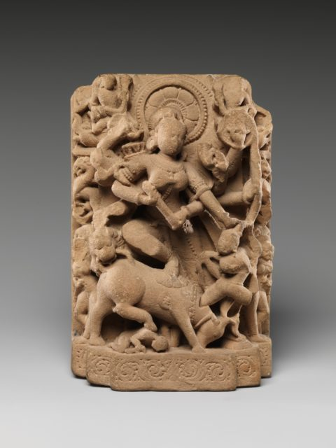 The Goddess Durga Slaying the Buffalo Demon (Mahisasura Mardini)