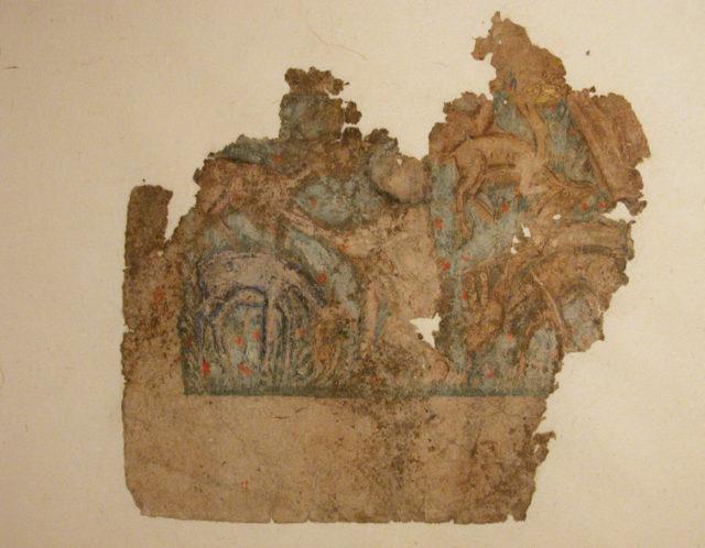 """Animals (Deer?) Feeding Under Trees"", Folio Fragment from a Dispersed Manuscript"