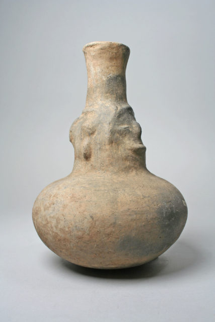 Bottle, Faces on Neck