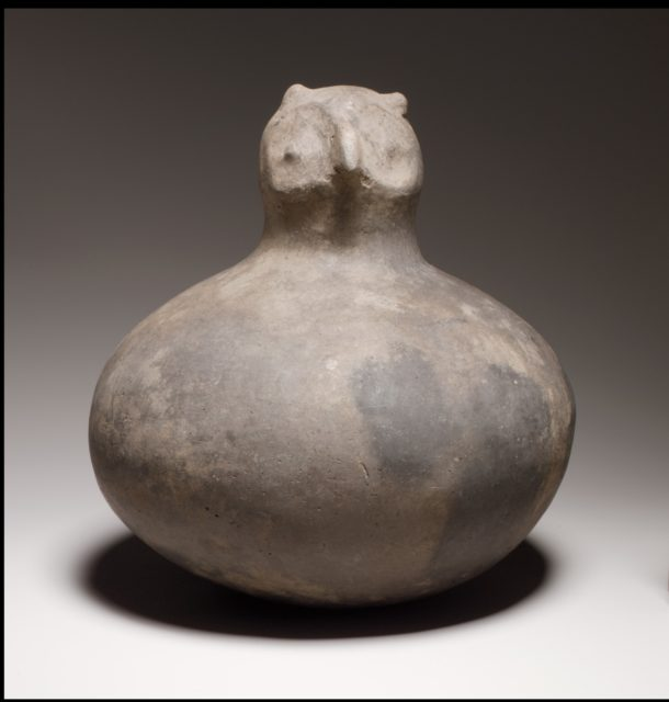 Bottle, Owl Head on Neck