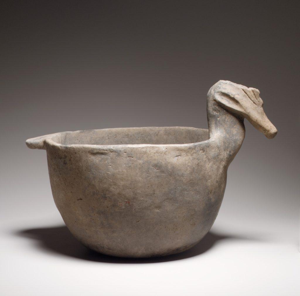 Bowl, Bird Head on Rim