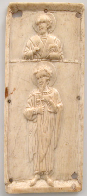 Right Wing of a Triptych with Saints Nicholas and Theodore