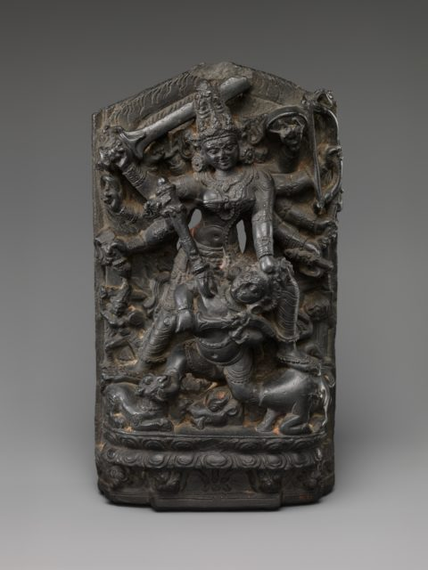 The Goddess Durga Slaying the Buffalo Demon(Mahishasura Mardini)