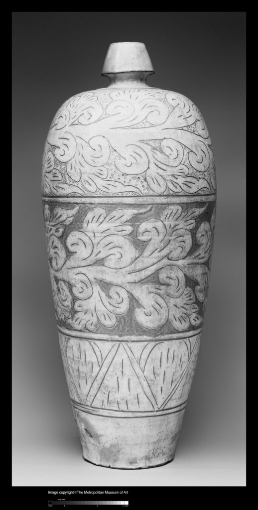 Vase with Abstract Scroll Decoration