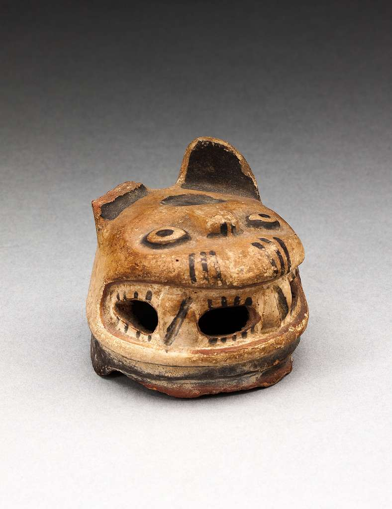 Vessel Fragment in the Form of a Feline Head