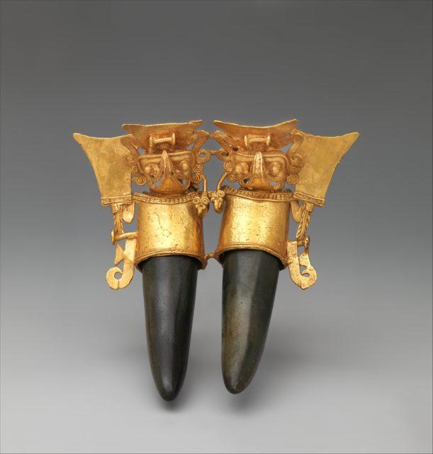 Double Bat-Head Figure Pendant