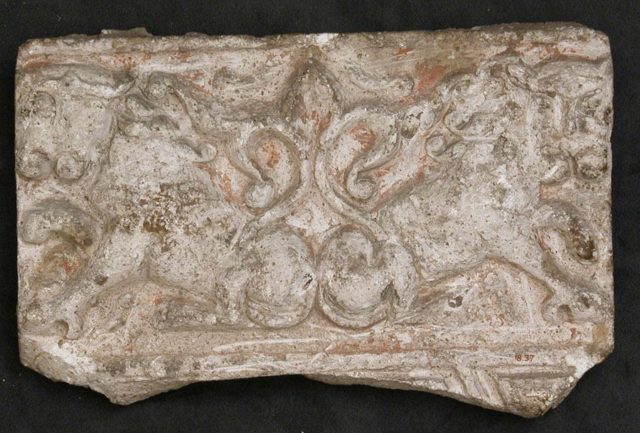 Fragment of a Frieze with Addorsed Lions
