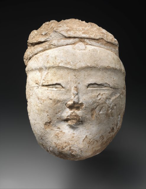 Head of a Central Asian Figure