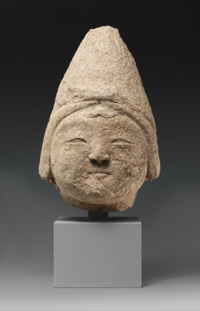 Head of a Central Asian Figure in a Pointed Cap