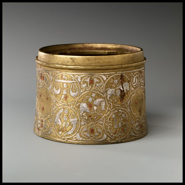 Inkwell with twelve Zodiac medallions