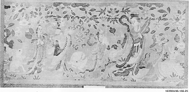 Panel with the Moon Goddess and Attendants