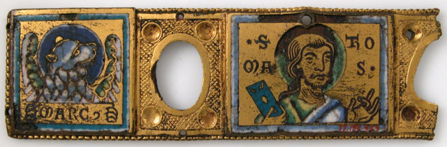 Plaque from a Book Cover or Portable Altar with Saint Thomas and the Lion of Saint Mark