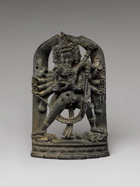 Twelve-Armed Chakrasamvara and His Consort Vajravarahi