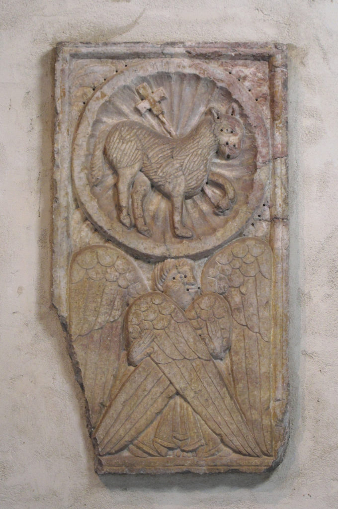 Relief of  Agnus Dei and Cherub