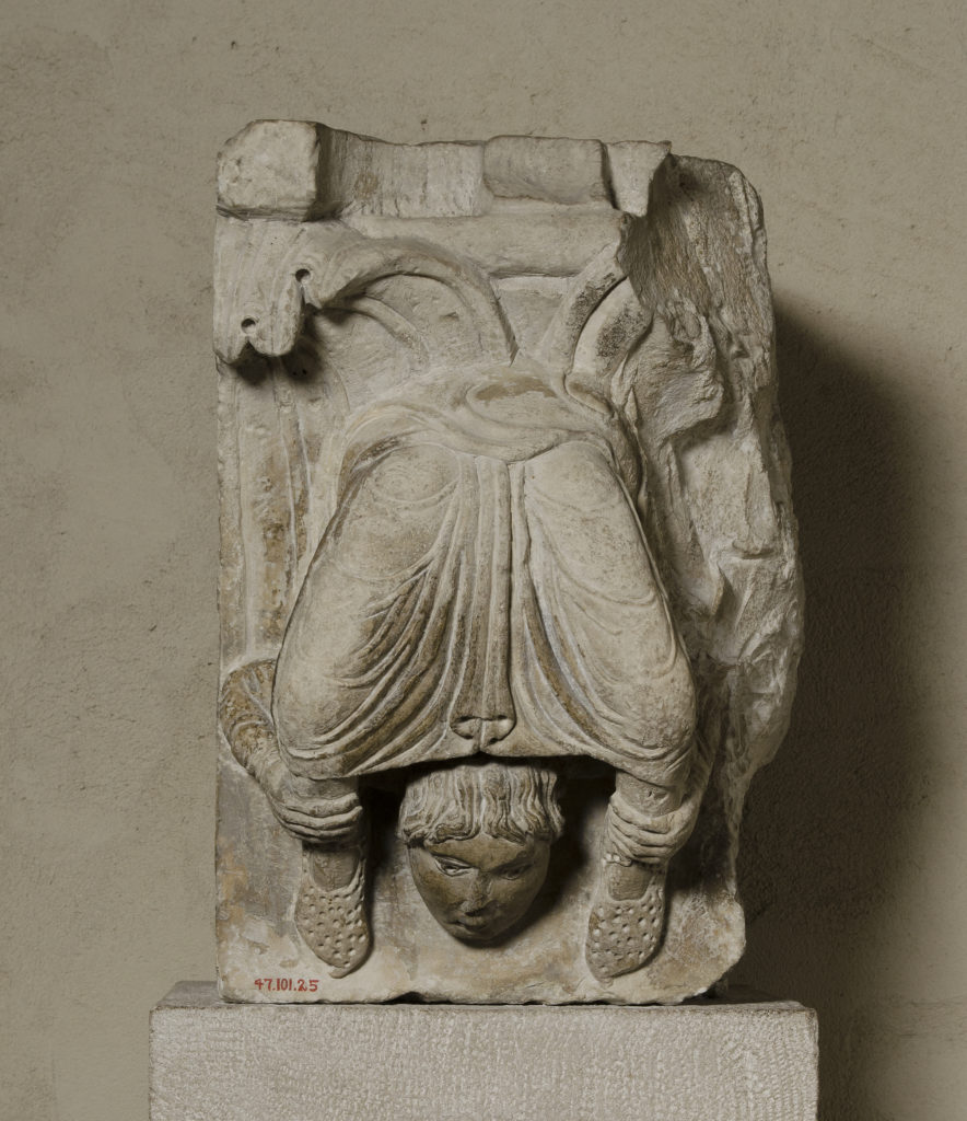 Portion of a Pilaster with an Acrobat