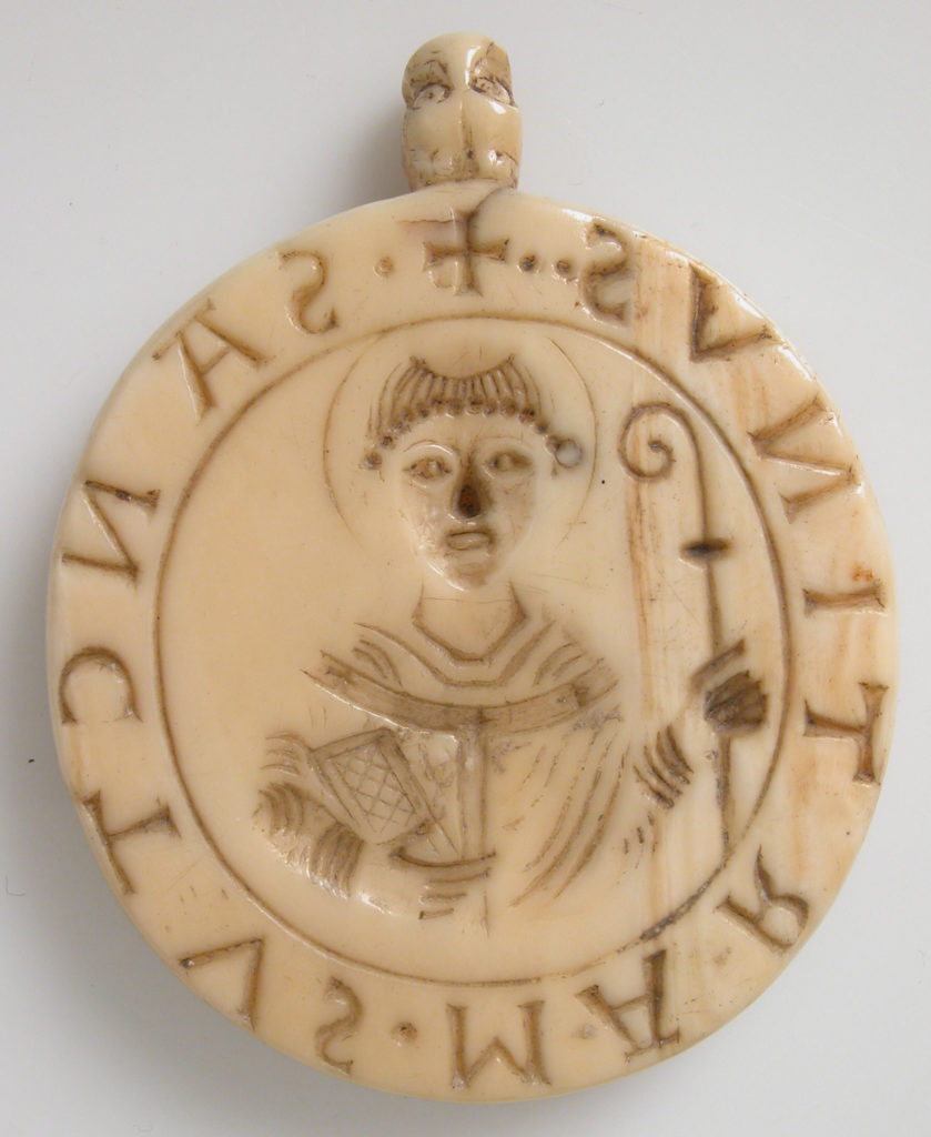 Seal Matrix with Abbot William of Gross St. Martin and Saint Martin