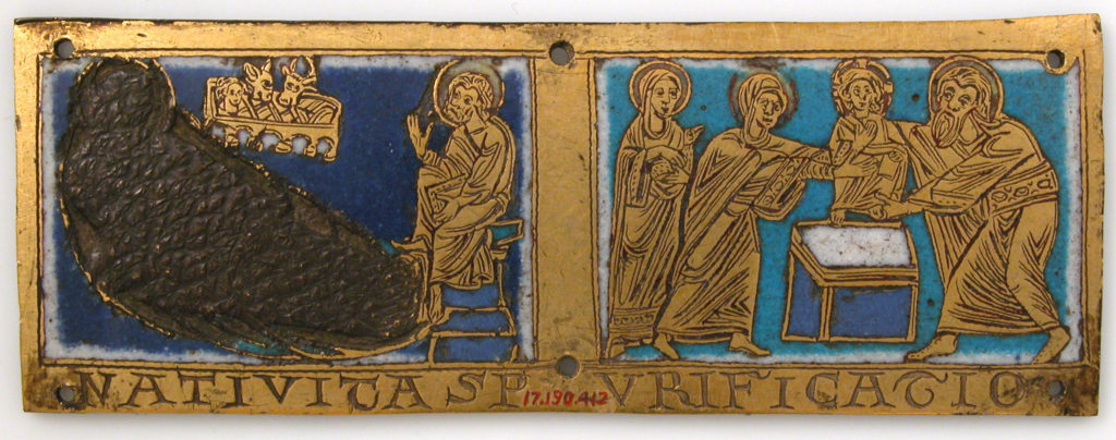 Plaque from a Portable Altar with Scenes from the Life of Jesus