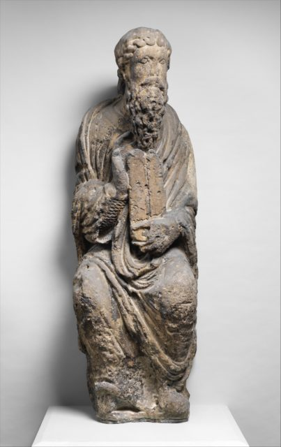 Sculpture of Moses with Tablets of the Law