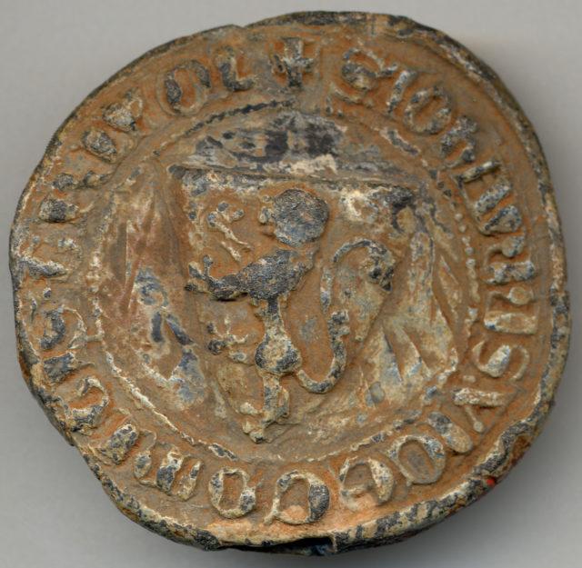 Bulla of Jean, Vicomte de Tripoli