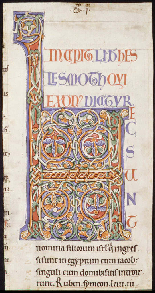Manuscript Illumination with Initial H, from a Bible