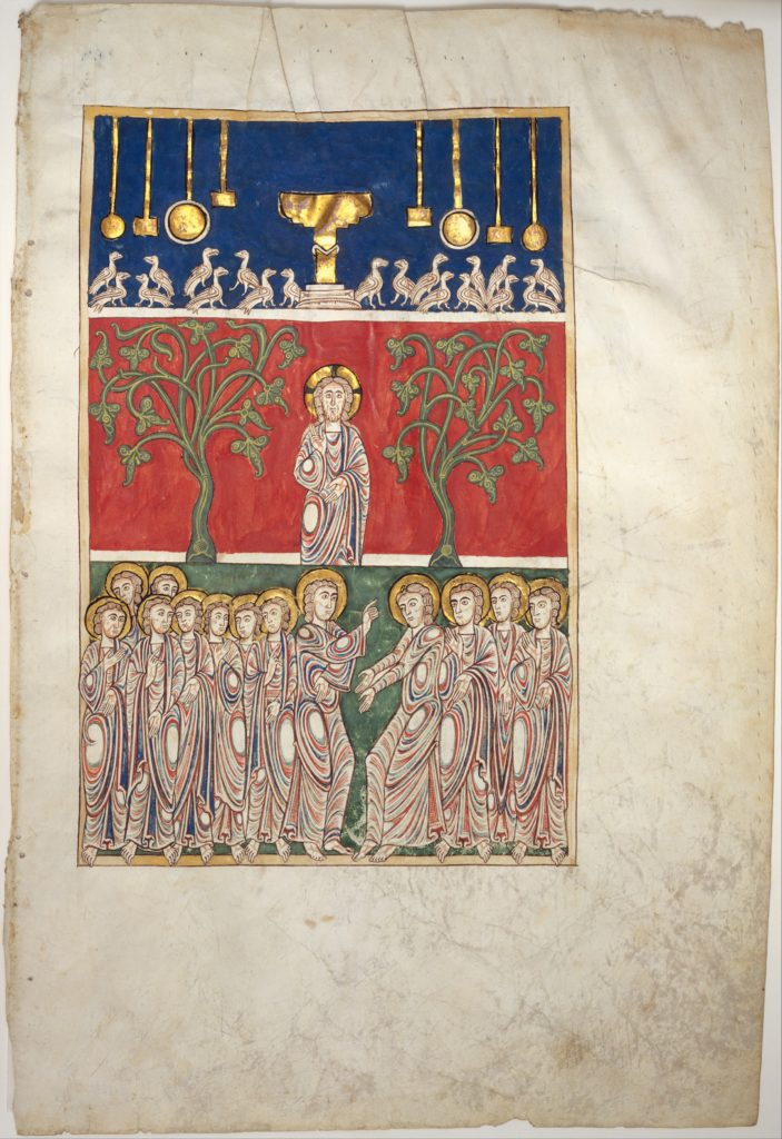 Leaf from a Beatus Manuscript: the Opening of the Fifth Seal