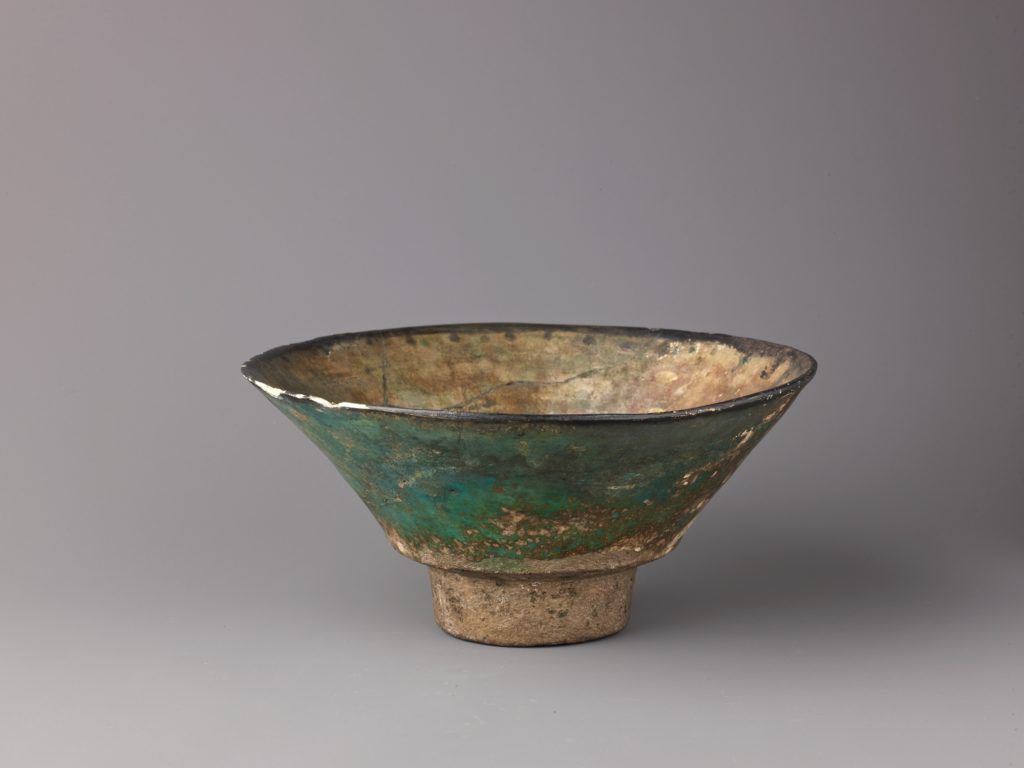 Biconical bowl