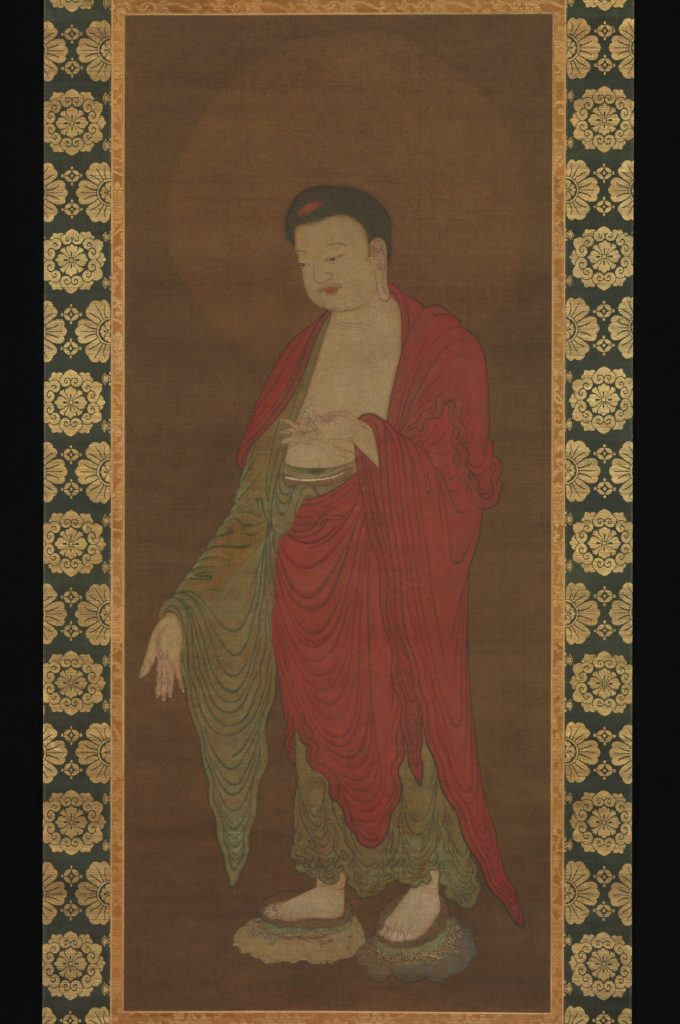 Buddha Amitabha descending from his Pure Land