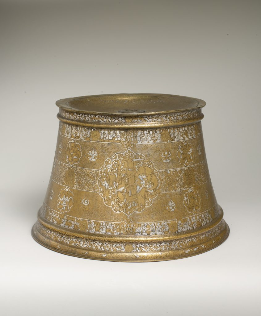 Candlestick with Enthronement Scene