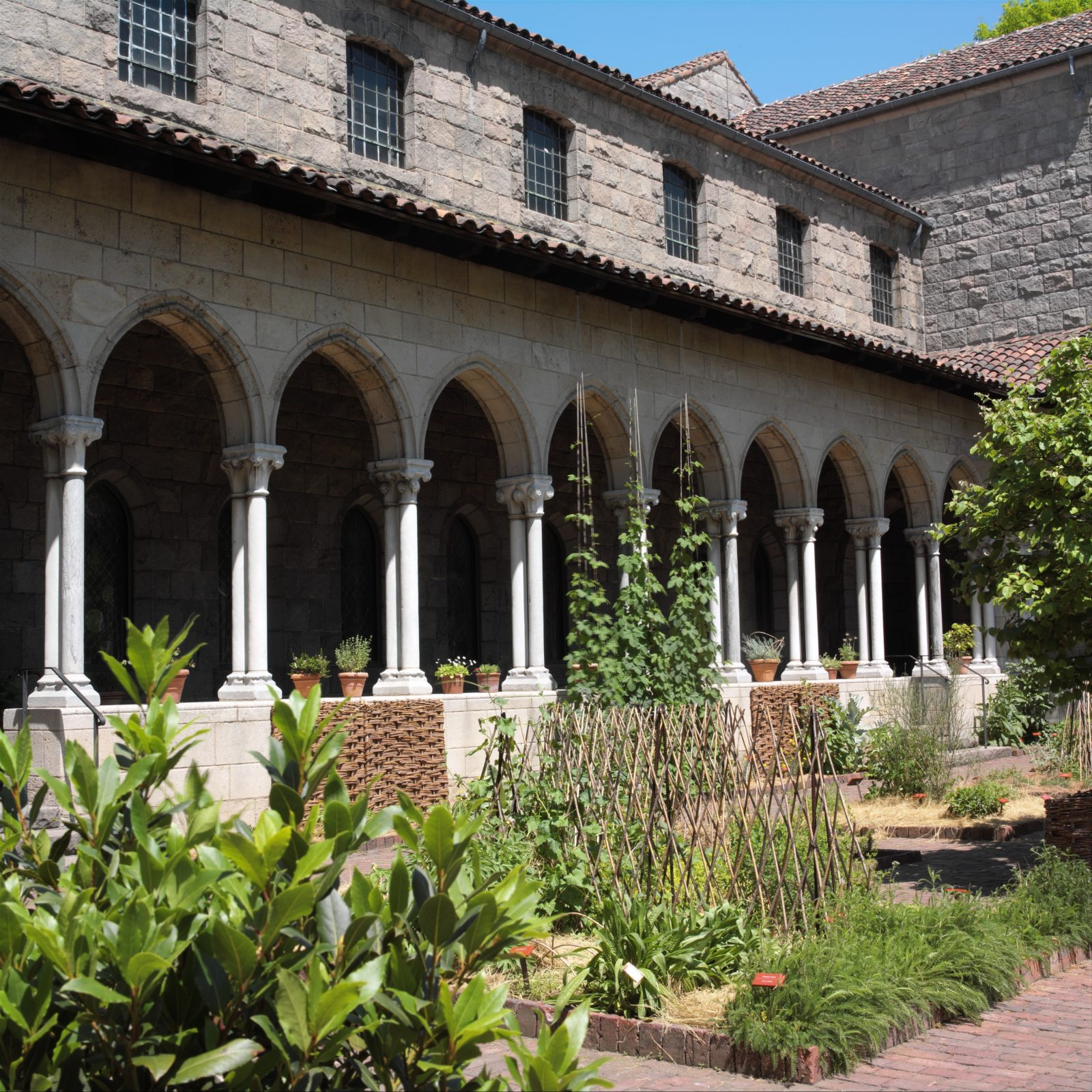 Cloister Arcades with Double Capitals