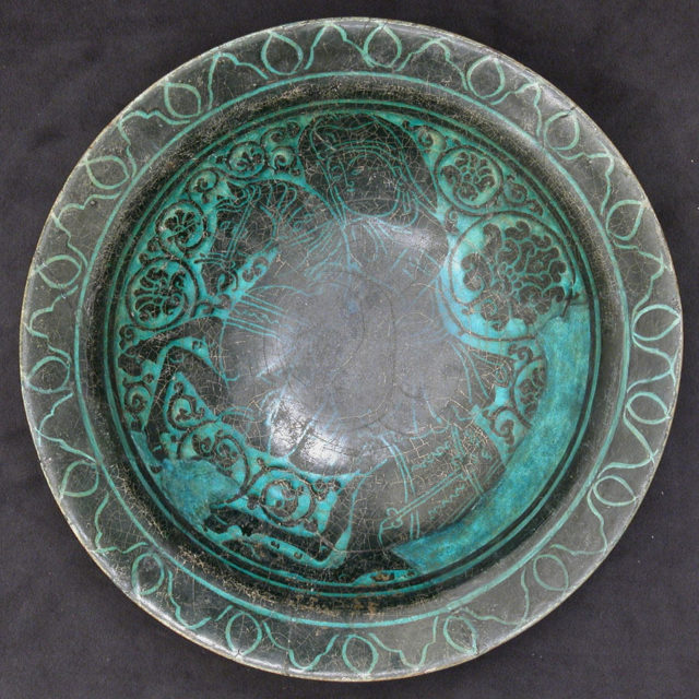 Dish with Horse and Rider