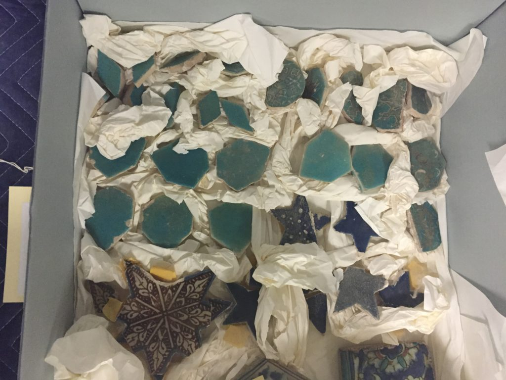 Fragments of a Tile Panel