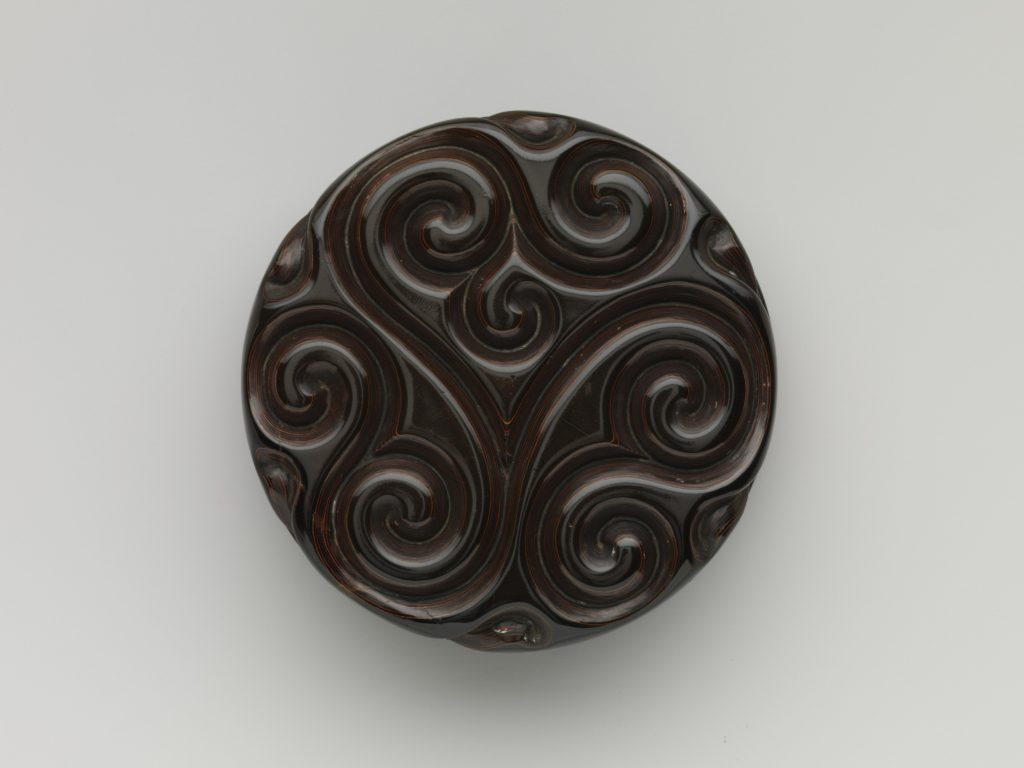 Incense box with fragrant grass design