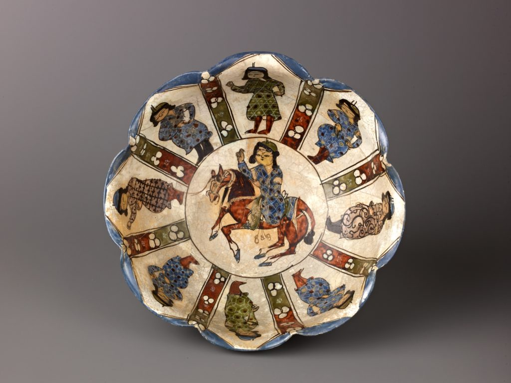 "Lobed bowl, Minai'i (""enameled"") ware"
