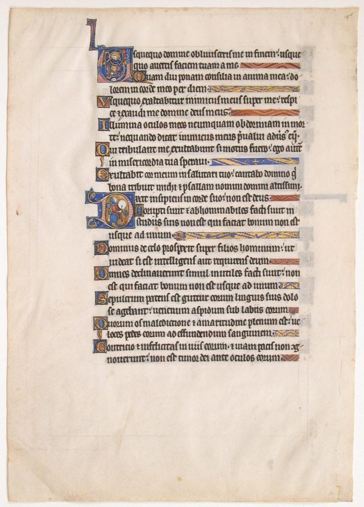 Manuscript Leaf from a Royal Psalter