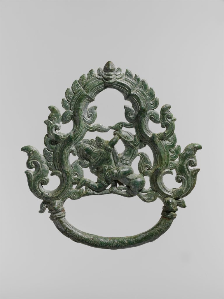 Palanquin Ring with a Demon Battling a Horse
