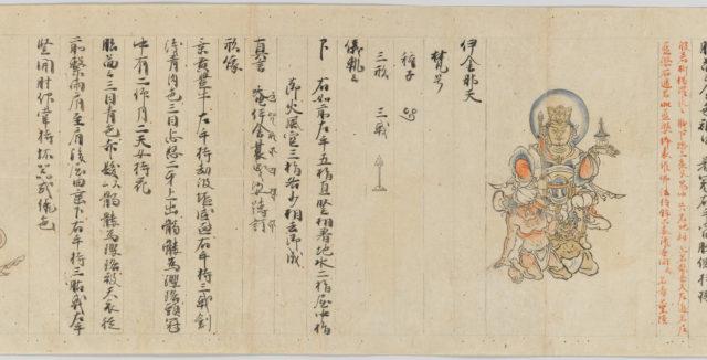 Scroll 9 of Collected Iconography (Zuzōshō): Ten (Devas)