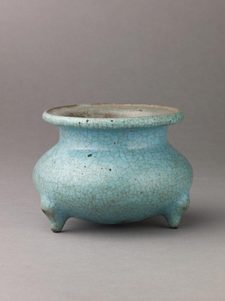 Small incense burner, 'Ma Jun' or 'Soft Jun' ware