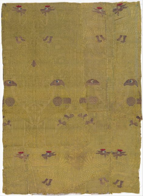 Textile, Birds, Dragon, and Palmette Motives