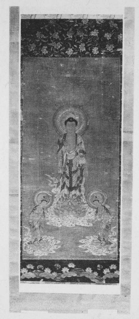 The Welcoming Descent of Amida with the Bodhisattvas Kannon and Seishi