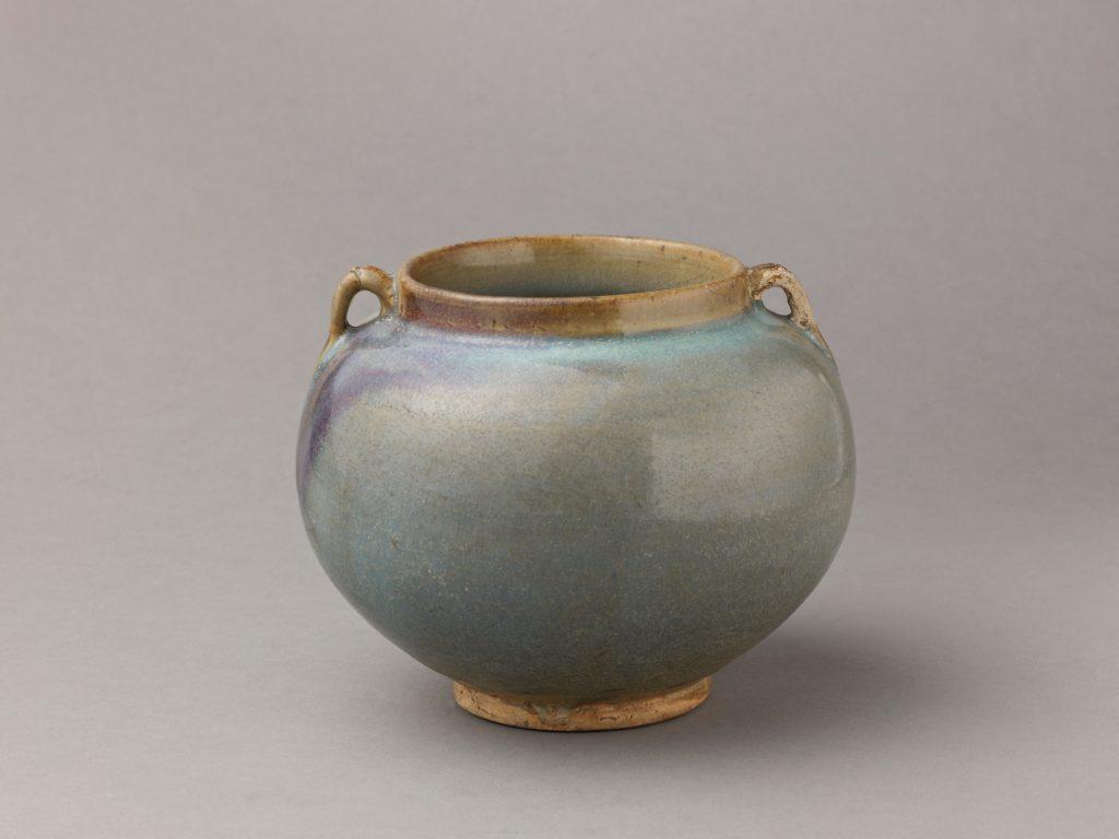 Two-eared jar, Jun ware