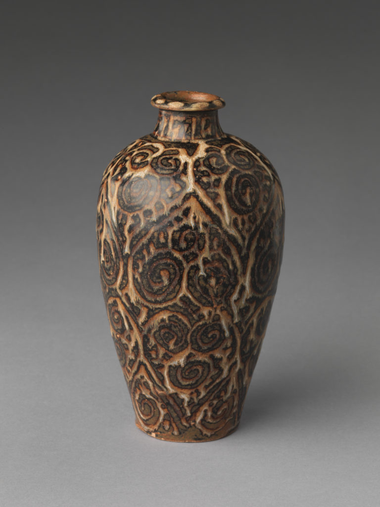 Vase with Abstract Scroll Design