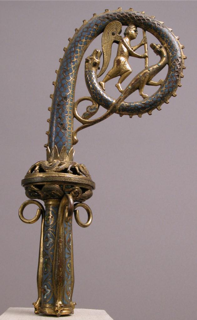 Crozier Head with Saint Michael Slaying the Dragon