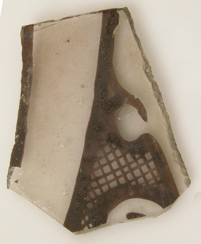 Grisaille Fragment with Plant Motif