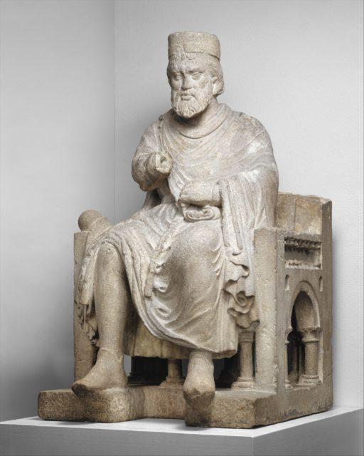 Sculpture of an Enthroned King