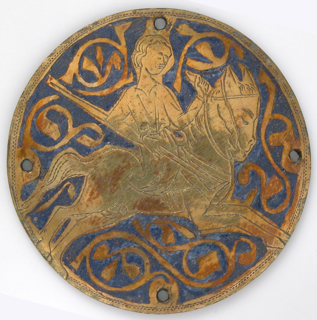 Medallion with Youth on Galloping Horse