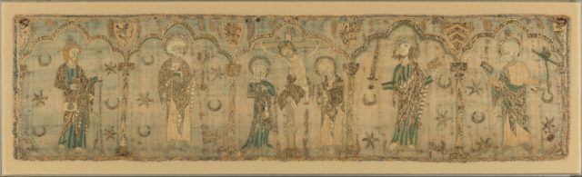 Crucifixion flanked by Saints