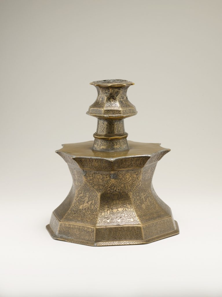 Candlestick with Figural Imagery