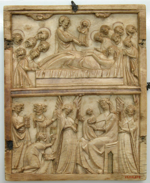 Central Leaf of a Diptych